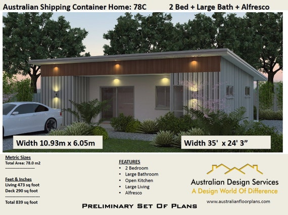Crazy Sale Price Last Day Container Home Concept Plan 48 Etsy Custom Design Container Home Concept