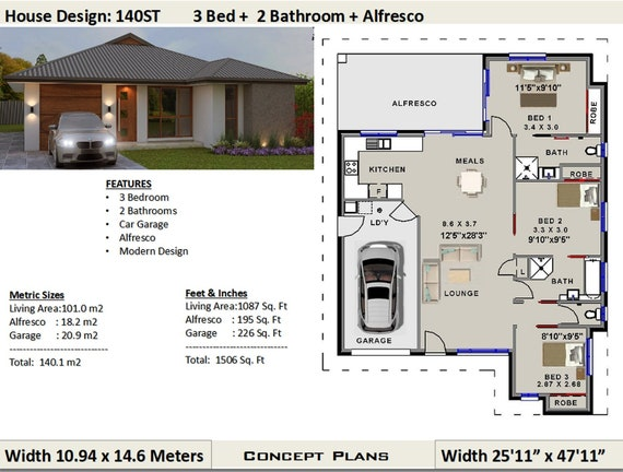 140 m2 | 1506 sq foot | 3 Bedroom house plan 140ST | Concept House Home Plan Bedroom Contempory on abstract home plans, classical home plans, retro home plans, industrial home plans, comfortable home plans, alternative home plans, classic home plans, fun home plans, stylish home plans, office home plans, contemporary country home plans, urban home plans, modernistic home plans, antique home plans, spacious home plans, arts and crafts home plans, minimalist home plans, rock home plans, mid-century modern home plans, functional home plans,