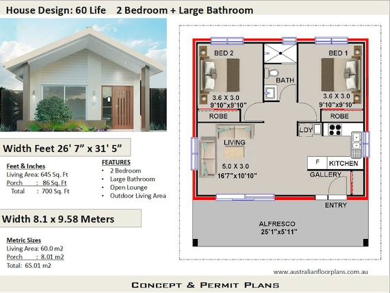 2 Bedroom House Plan, 700 sq. feet or 65 m2 | 2 small home design, on very small house plans, modern house plans, bungalow house plans, small cottage house plans, kitchen house plans, luxury cottage house plans, two bedroom handicap house plans, sq ft. house plans, simple house plans, cute small house plans, 1bedroom house plans, 1 bedroom plans, country house plans, loft house plans, duplex house plans, 14 bedroom house plans, 5 bedroom house plans, north east facing house plans, floor plans, great room house plans,
