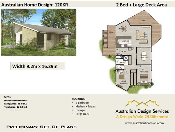 2 Bedroom Concept Blueprints 2 Bedroom House Design Plans Narrow Lot House Plan Sale 89 M2 Living Area Or Total 1023 M2 Or 1291 Sq Foot