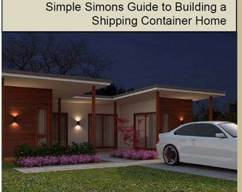 NEW RELEASE - Shipping Container Home Guide | Container Home | Ship Container Home |  Container Home plans  | cheap container home |  homes