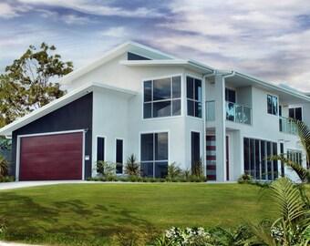 267 m2 | 4 Bed + Study + Narrow Lot | 2 Story design Narrow Lot | plans  2 storey | 2 story Narrow  design | Narrow lot land 2 storey plans