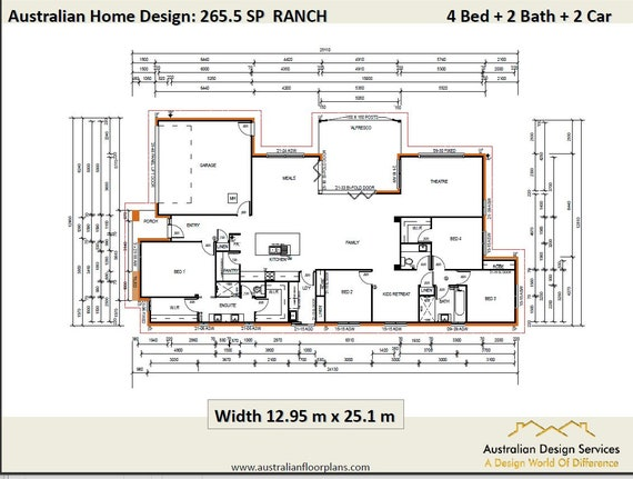 267.5 m2 Ranch Style Home Design   4 Bedroom Concept house plans   on log cabin plans with 4 bedrooms, duplex plans with 4 bedrooms, ranch home plans with 3 bedrooms, saltbox house plans with 4 bedrooms, small house plans with 4 bedrooms, craftsman house plans with 4 bedrooms,
