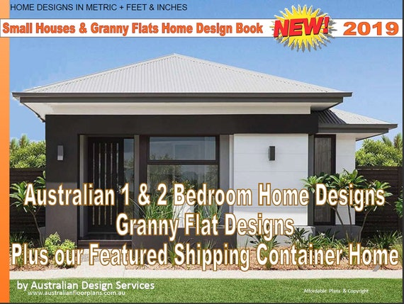 Small Houses Granny Flats Home Design Book 2 Bedroom Etsy