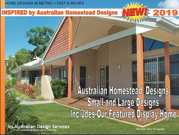 PRINTABLE Country House Plans - Australian Homestead House Plan - country on