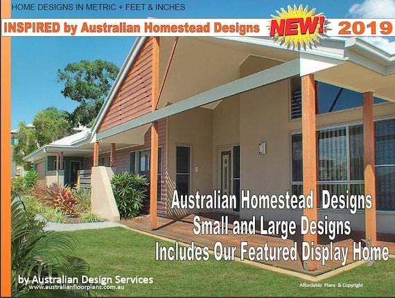 Printable Country House Plans Australian Homestead House Etsy