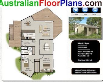120 m2 | 1291 sq foot  |  2 Bedroom house plan | 2 bed granny flat |   2 Bedroom Granny Flat |  Modern Granny Flat | 2 bed small home plan