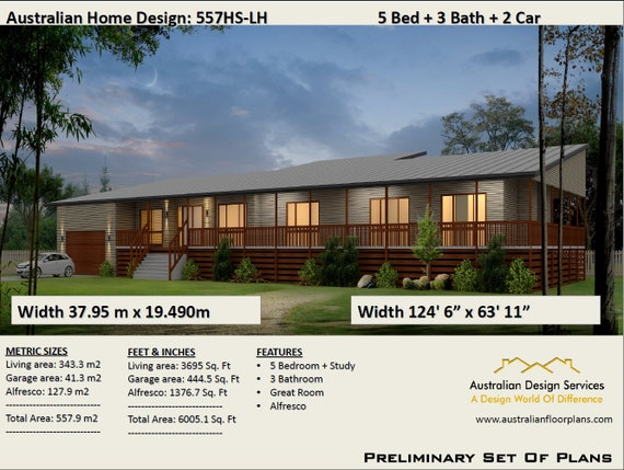 48m48 Or 48 Sq Feet 48 Bedrooms Acreage Home Plan Etsy Amazing 3 Bedrooms For Sale Set Plans