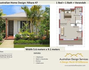 49 Nikara 49 m2 |  1 Bedroom home design - Concept House Plans For Sale
