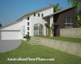 221m2 |2880 sq feet | 5 Bedrooms | Home Plan 5 bed|5 bedroom double garage plans| Modern 5 bed Home for sloping land | blueprint |blueprints