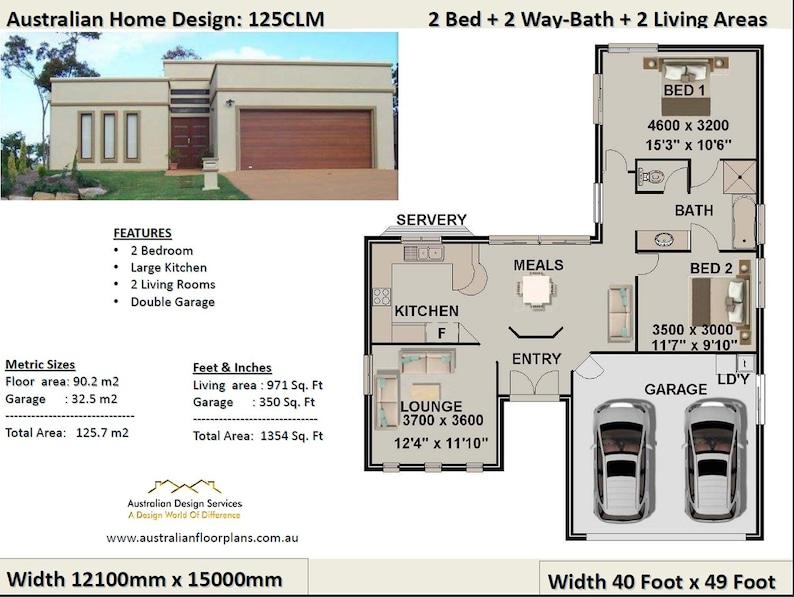 2 Bedroom 2 Car Garage House Plan Small 2 Bed Floor Plan Modern Home Design 2 Bed House Design 2 Bed House Plans Australia For Sale