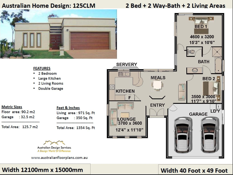 2 bedroom 2 car garage house plan small 2 bed floor plan