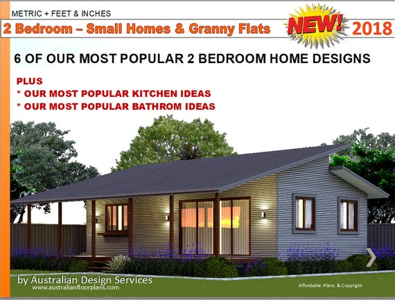 2 Bedroom House Designs Small Houses Granny Flats Home Etsy