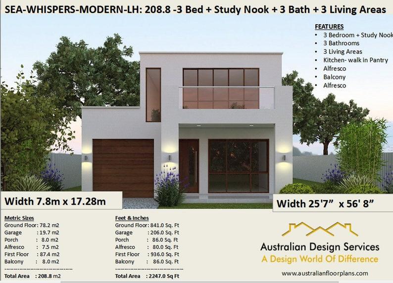 2 Story Home Design 2247 Sq Feet 208 M2 2 Storey House Etsy