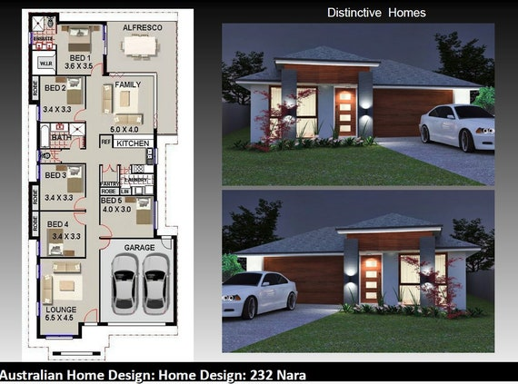 . 232 m2 Modern Home Design   5 Bedrooms   2 Bath rooms   2 Car   2 Living  Areas   Alfresco   House Plans For sale