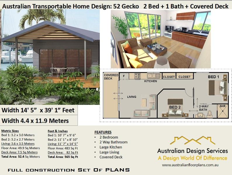 Construction Plans  Steel Frame Transportable 2 Bedroom House image 0
