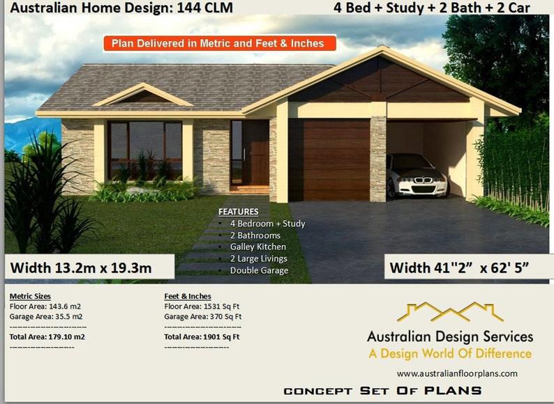 Narrow Lot 4 Bedroom House Plans Narrow Home Plans 4 Bedroom Design 4 Bed Floor Plans 4 Bed Blueprints Size 179 M2 1901 Sq