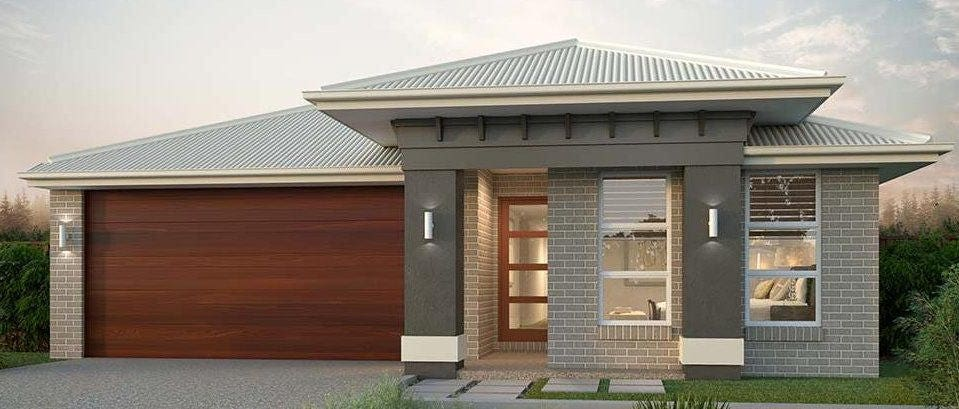 182.2 m2 Violet   Narrow Land Home Design - 4 Bedroom Concept house ...