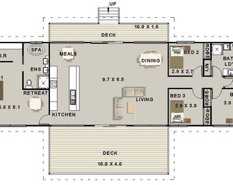 211 m2 | 4 Bedrooms | Country Kit Home Plan 4 bed | 4 bedroom Home Country Kit plans | Country Kit  4 bed pole home | blueprints