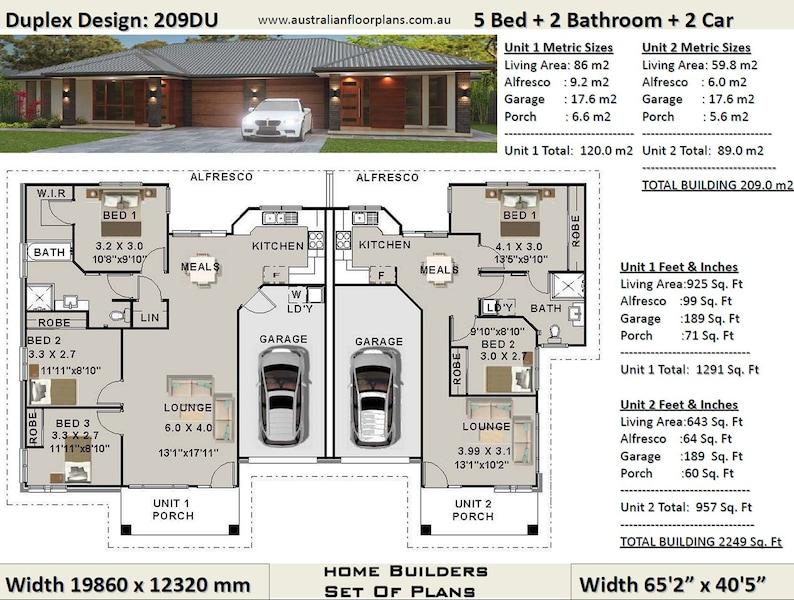 Stupendous 5 Bed 2 Bath Duplex House Plans 3 X 2 Bedroom Duplex Plans 5 Bedroom Duplex Modern 5 Bed Duplex Plans Australian Duplex House Plan Beutiful Home Inspiration Xortanetmahrainfo