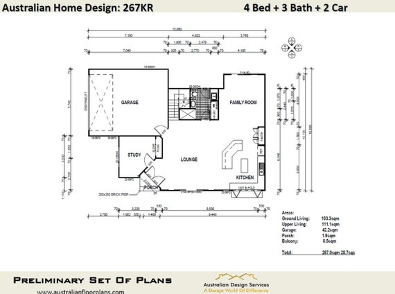 267 m2 | 4 Bed + Study + Narrow Lot | 2 Story design Narrow Lot | plans Narrow Story Home Plans With Garage on townhouse plans with garage, 2 story home plans modern, patio home plans with garage, duplex plans with garage,