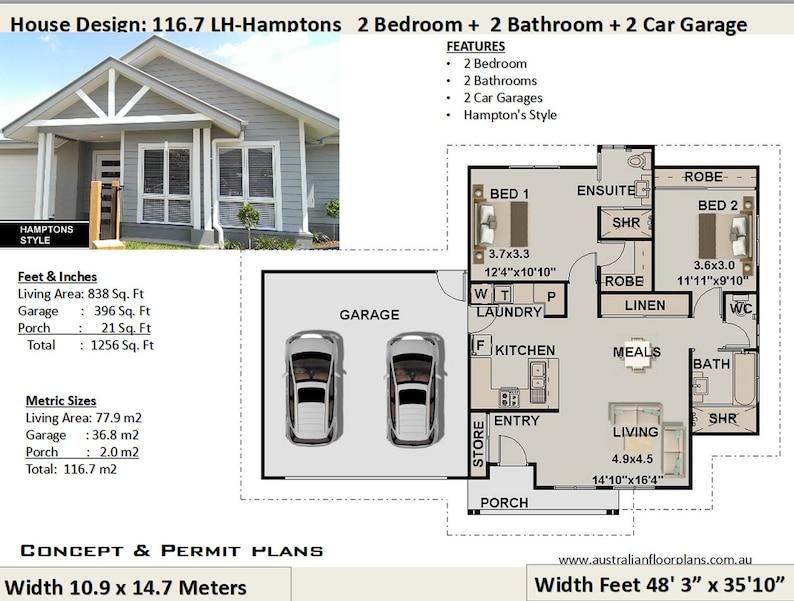 Hamptons Style House Plans Small House Plan Australia 2 image 0