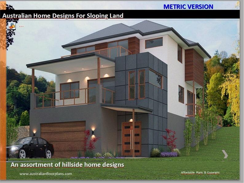 . Hillside House Floor Plans For Sloping Land Over 50 Homes Designs  house  plans  sloping land house plans  modern house plans  affrodable