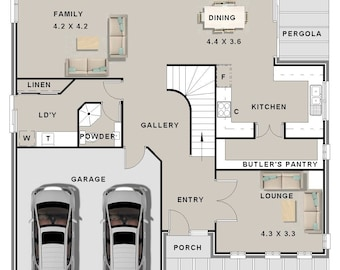 302 m2 | 4 Bed + Study Nook + 3 Living Areas | Concept House Plans For Sale -SEE DETAILS