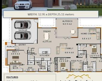 267.5 m2 |4 Bedroom Concept house plans | Eureka Design For Sale