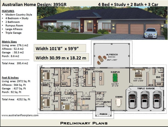 395 m2 or 4252 sq foot - Australian 4 Bed + Study + Home Plans For Ranch Home Plans For Sale on plans for cottage homes, plans for energy efficient homes, plans for colonial homes, plans for log homes, plans for single family homes, plans for craftsman homes, plans for duplex homes, plans for contemporary homes, plans for cape cod homes, plans for split level homes, plans for 2 family homes, plans for rustic homes, plans for luxury homes, plans for mountain homes, plans for beach homes,