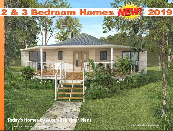2 And 3 Bedroom House Plan Design Book Tiny House Plans Etsy