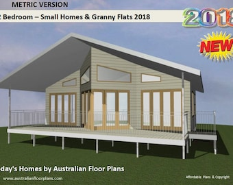 1 and 2 Bedroom house plans BOOK New Version 2018 - Small Houses & Granny Flats Design Book -