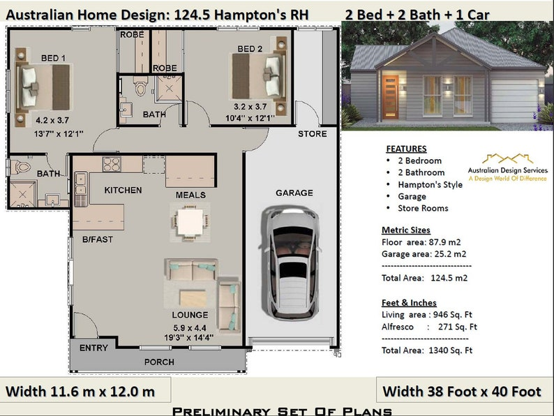 2 Bedroom House Plans Home Design 2 Bedroom Contemporary Ranch House Plans Concept House Plan For Sale 124 5 M2 1340 Sq Feet