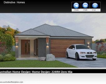 2486 sq feet  | 231m2 | 4 Bed 2 Bath | narrow lot |  4 Bedroom australian floor plan | house designs australia | 4 bed + 2 bath + 2 car plan