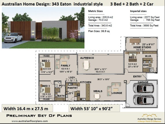 3 Bedroom Best Selling House Plans Small And Tiny Homes Etsy