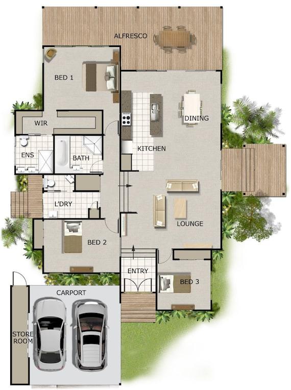 242m2 4 Bedrooms 3 Bedrooms Split Level Floor Plan 3 | Etsy
