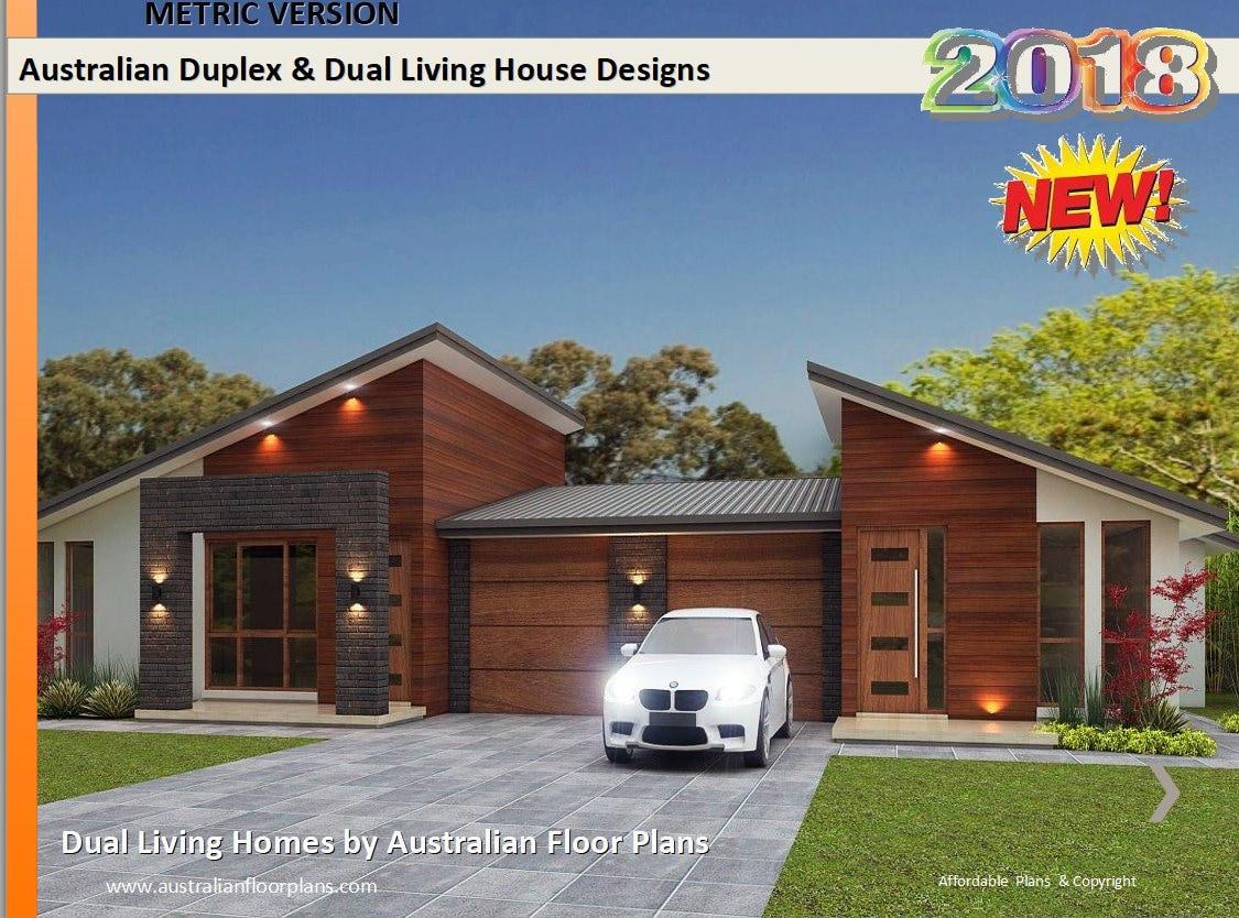 BEST SELLER ***** 5 Star - Duplex Home Designs - home design - Home Plans-  duplex floor plans - 2 Family House Plans australia for sale