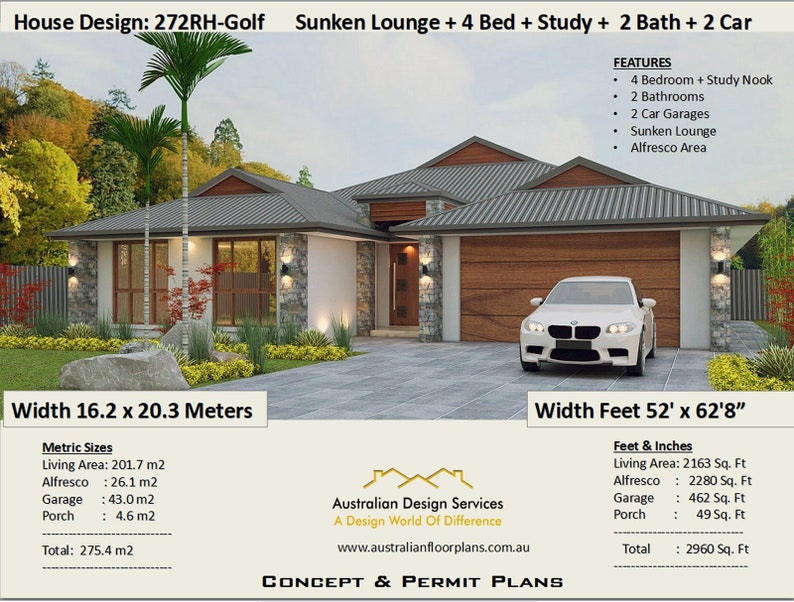 Wondrous 4 Bedroom House Plans 2960 Sq Foot 272 M2 Sunken Lounge 4 Bedroom Study Nook House Plan 4 Bed House Plans On Sale Today Interior Design Ideas Gentotryabchikinfo