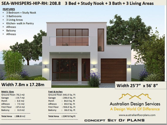 Duplex-Townhouse house plans |Modern 2 story home 208 m2 | 2247 sq. on townhouse floor plans with garage, small townhouse plans garage, narrow duplex with garage,