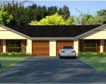 299 m2 | 6 Bedrooms duplex design | 6 Bedrooms duplex plans | 6 bedroom duplex | modern duplex plans | Duplex Design Plan | duplex design