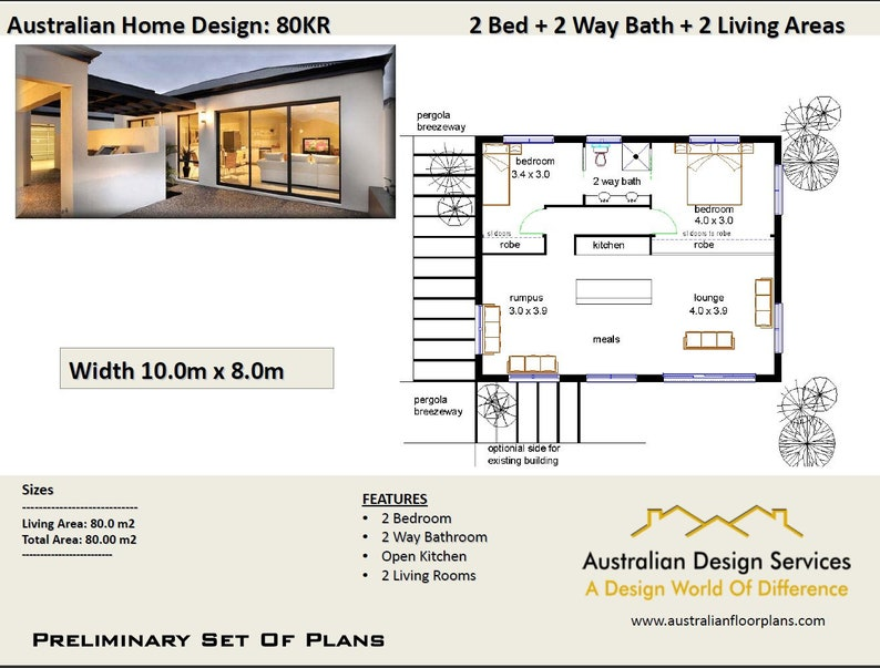 House Plan Bedroom Extension 2 Bed Granny Flat Renovations Plan House Plans Home Plans Small House Plans Tiny House Plan Australia