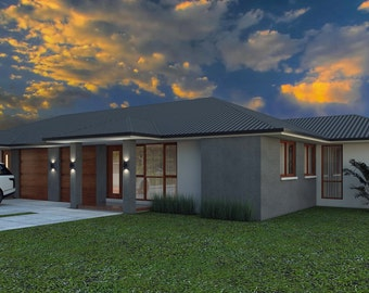 215 m2 | 5 Bed dual key designs | 3 X 2 Bedrooms Duplex Design| Duplex  blueprint | modern Duplex plan | Australian Dual Key design: