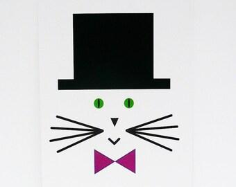 Set of 2 postcards, cat postcard, postcard, minimalist postcard, kawaii cat, minimalist cat, animal cards, stationery, stationary, ChatMage