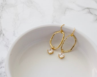 girlfriend gift Mothers Day gift Wooden Earrings lightweight earrings teardrop earrings faded paint earrings