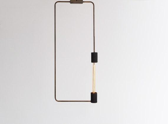 Moderne Lampen 68 : Minimale industriellen moderne rechteck deckenlampe etsy