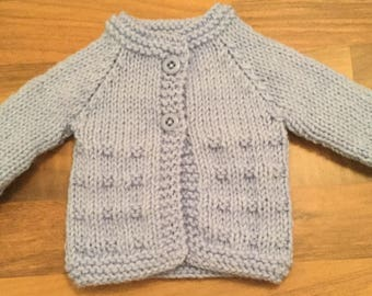 Small premature /teddy/doll cardigan . 12 inch chest.