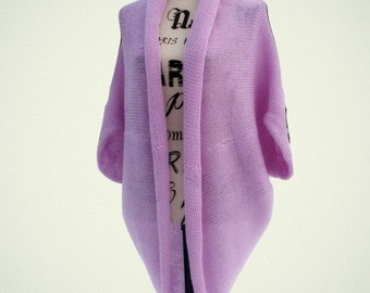 Rebeca capullo lila Rebeca de gran tamaño manta suave acogedor elegante  chaleco de punto manta chaqueta mantón de la bufanda transformador púrpura  poncho de ... ca67e707c45e