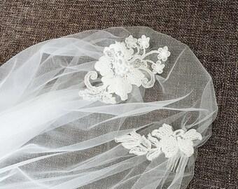 Juliet Cap Veil, Great Gatsby Wedding Veil, Lace Juliet Cap Wedding Veil, Drop Cap Veil, Boho Bridal Veil, Mi Bridal Veil, Hand Sew
