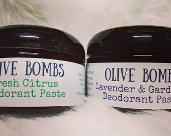 All natural deodorant with essential oils, organic Shea and mango Butter 10-12 hour odor control