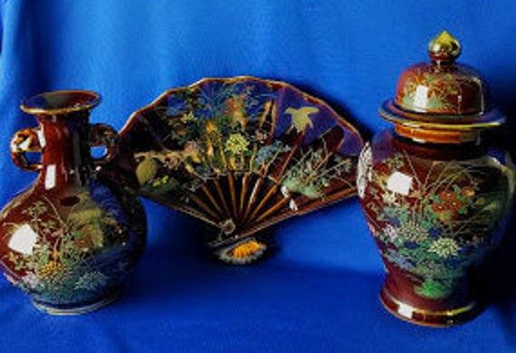 Vintage Oriental Vases Etsy